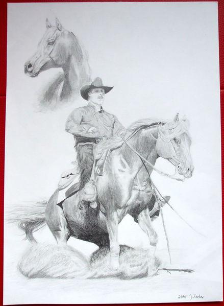 Zeichnung, Western, Arabisches vollblut, Pferde, Zeichnungen