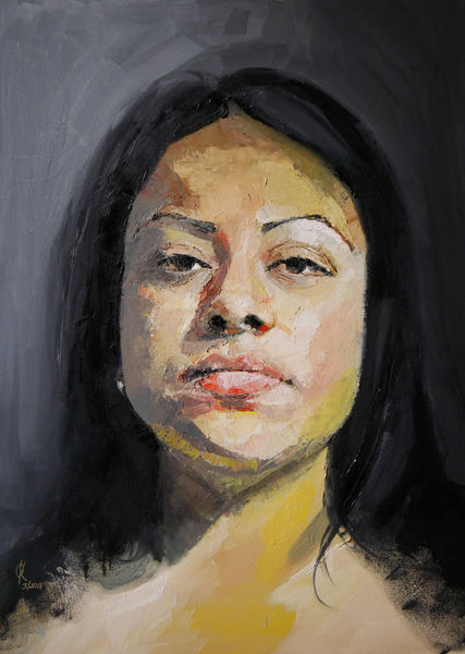 Malerei, Farben, Portrait