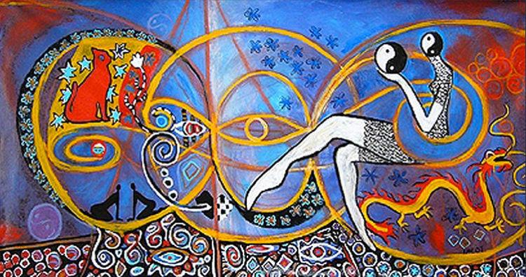 Blumen, Malerei acryl, Modern art, Acrylmalerei, Abstrakt, Malerei