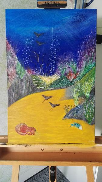 Ruhe, Wasser, Harmonie, Malerei