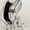 Menschen, Zeichnung, Sketching, Wimpern