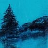 Blau, Tanne, Nacht, Wasser