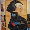 Surrealistisch, Portrait, Malerei,