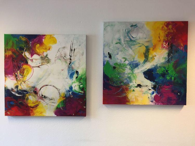 Struktur, Spachteltechnik, Acrylmalerei, Malerei acryl, Abstrakt, Modern