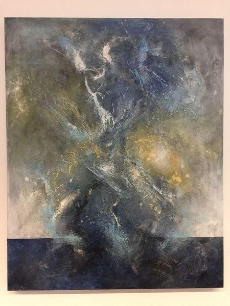 Lichteffekte, Spachteltechnik, Malerei modern, Braun, Abstrakt, Universum