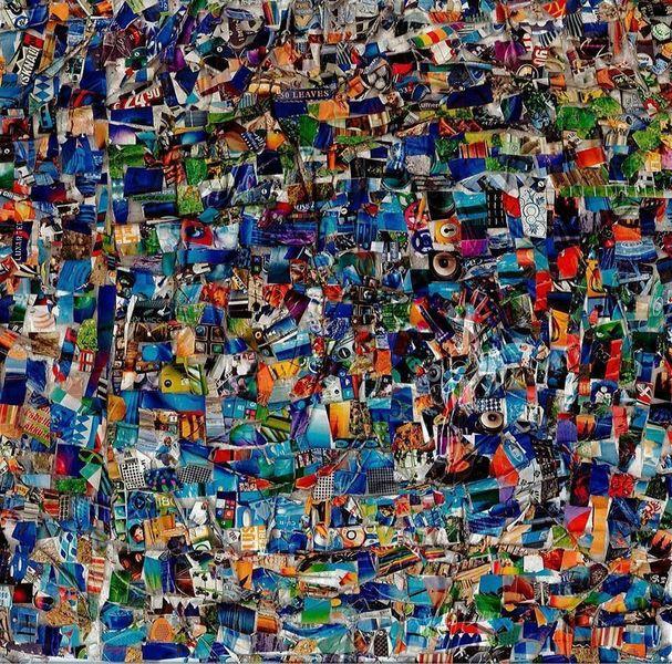 Farben, Collage, Techno, Bunt, Musik, Blau