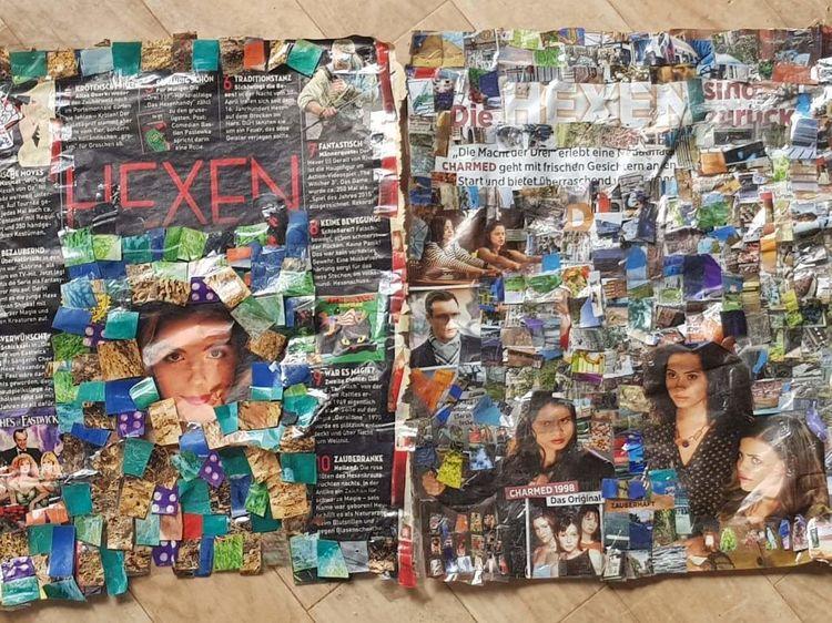 Farben, Musik, Tv, Collage, Tanz, Bunt