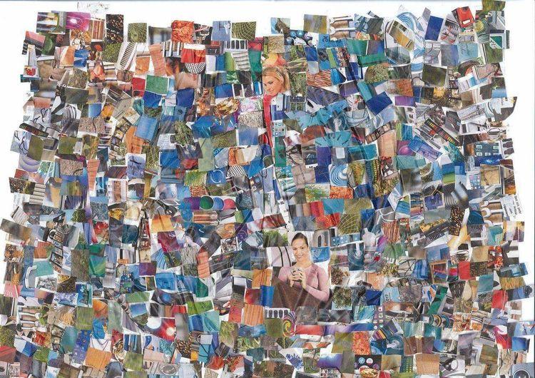 Farben, Collage, Bunt, Mischtechnik, Tv, Zeitung