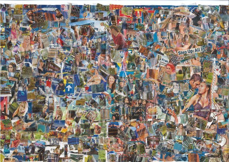 Collage, Tv, Bunt, Musik, Farben, Kino