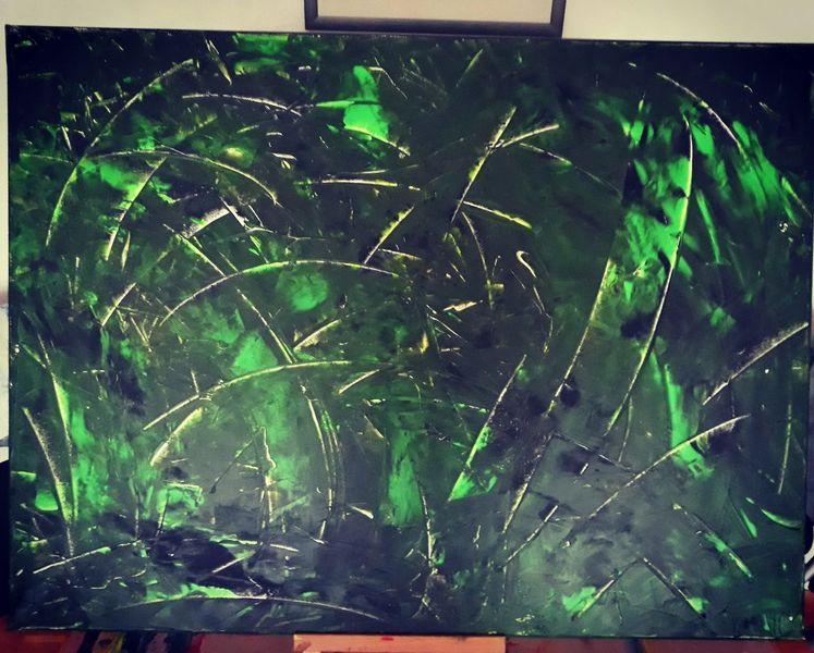 Abstrakt, Malerei modern, Acrylmalerei, Grün, Acryl auf leinwand, Malerei acryl