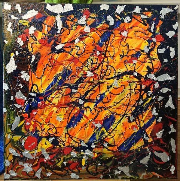 Temperamalerei, Malen, Abstrakt, Seele, Farben, Acrylmalerei