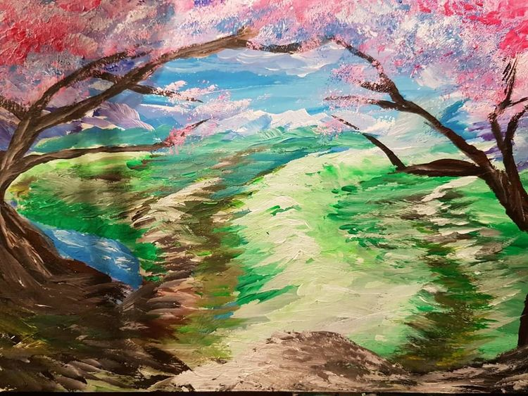 Harmonie, Landschaft, Romantisch, Träumerisch, Malerei