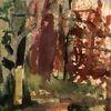 Waldrand, Aquarellmalerei, Landschaft, Ewig