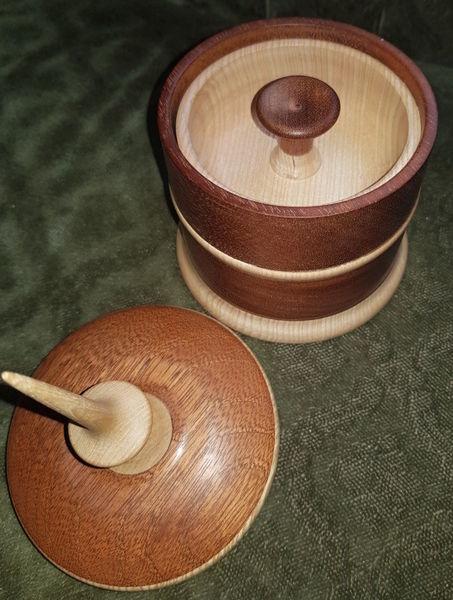 Skulptur, Holzschale, Dose, Esche, Holz, Mahagoni