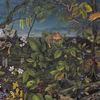 Tiere, Wimmelbild, Acrylmalerei, Pflanzen