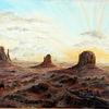 Wüste, Reiter, Monument valley, Sonnenuntergang