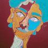 Blau, Temperamalerei, Rot, Bunt