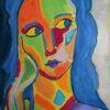 Bunt, Ölmalerei, Abstrakt, Mädchen