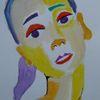 Charakter, Frau, Portrait, Aquarell