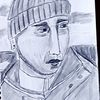 Portrait, Mann, Nordsee, Zeichnungen