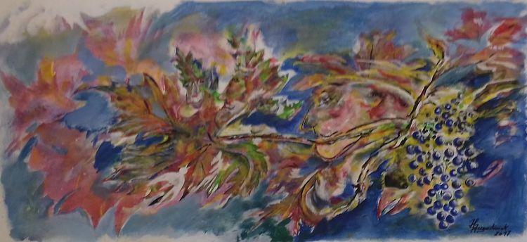 Winzer, Menschen, Acrylmalerei, Malerei