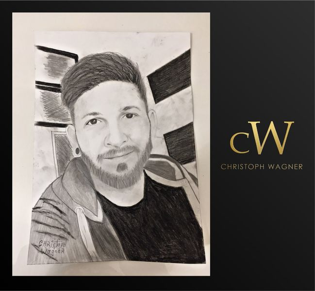 Bleistiftzeichnung, Weiß, Schwarz, Portrait, Zeichnungen
