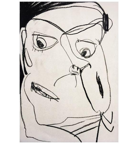 Selbstportrait, Art löchle, Portrait, Zeichnungen