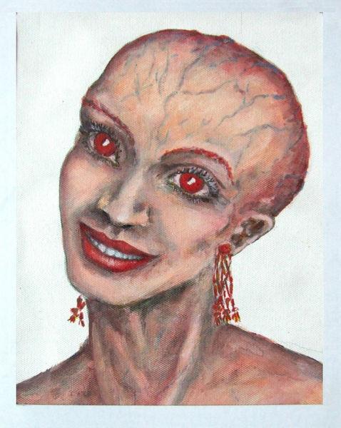 Portrait, Gesicht, Kopf, Frau, Nerv, Malerei