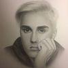 Bleistiftzeichnung, Portrait, Junge, Mann