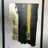 Acrylmalerei, Gold, Modern, Schwarz