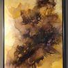 Braun, Bordeaux, Aquarellmalerei, Warme farben