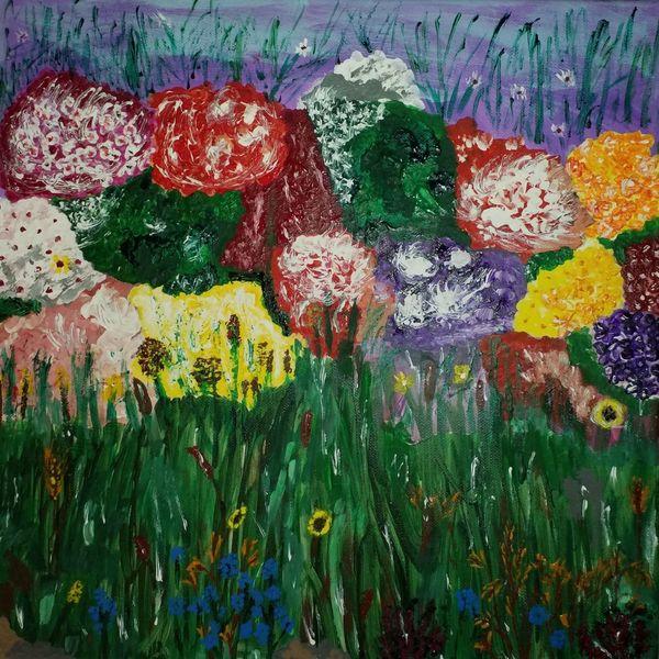 Frankreich, Bunt, Grün, Blüte, Zahlreich, Blätter