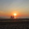 Fahrrad, Welle, Menschen, Himmel