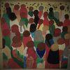 Menschen, Naive malerei, Flashmob, Malerei
