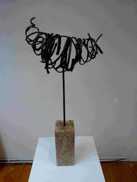 Eisen, Skulptur, Abstrakt, Expressionismus, Plastik