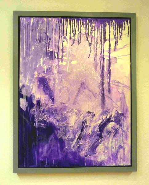 Expressionismus, Acrylmalerei, Malerei, Abstrakt, Lila,