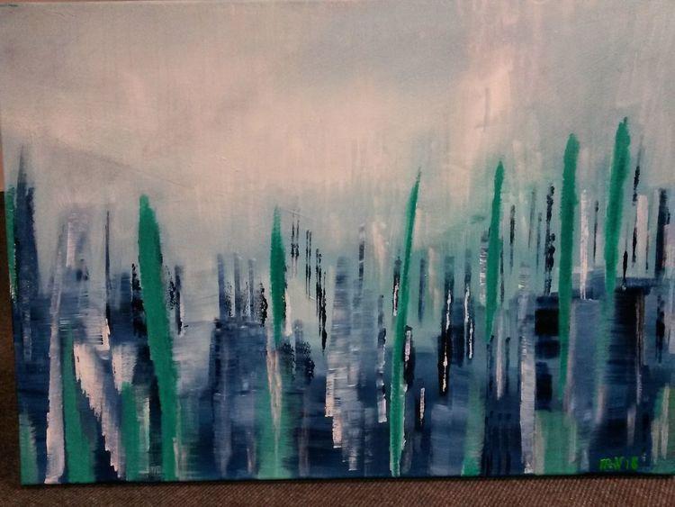 Abstrakt, Spiegelung, Fantasie, Malerei