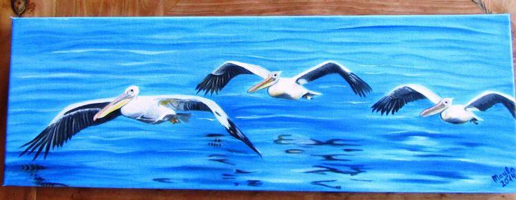 Vogel, Wasser, Meer, Malerei, Meine bilder,