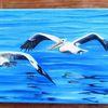 Meer, Vogel, Wasser, Malerei