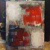 Schwarz, Abstrakte kunst, Modern art, Rot