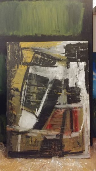 Rot, Malerei modern, Farbverlauf, Modern art, Pinsel, Abstrakte kunst