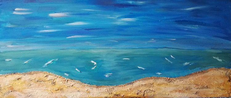 Meer, Strand, Sand, Malerei, Sehnsucht
