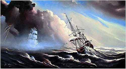 Wind, Malerei, Schiff,
