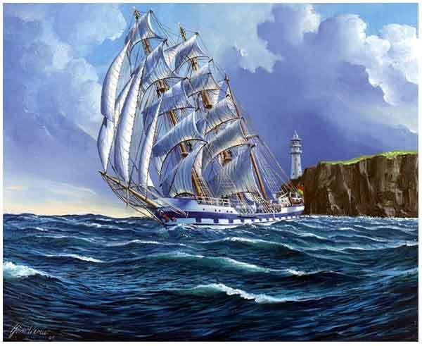 Venezuela, Segelschiff, Malerei,