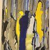 Blau, Abstrakt, Durchbruch, Gelb