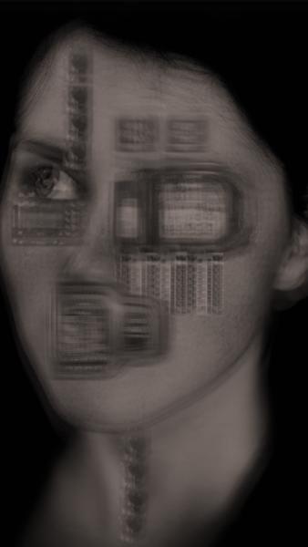 Portrait, Utopie, Gesicht, Dystopisch, Menschen, Farben
