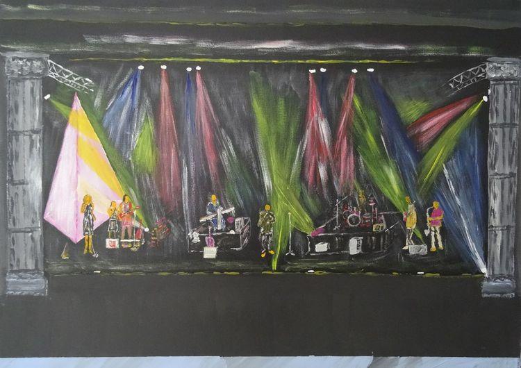 Acryl acrylmalerei, Malerei acryl, Malerei, Band, Krone
