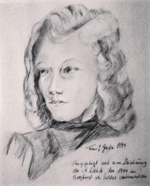 Bleistiftzeichnung, Portraitzeichnung, Zeichnungen, Junge, Frau
