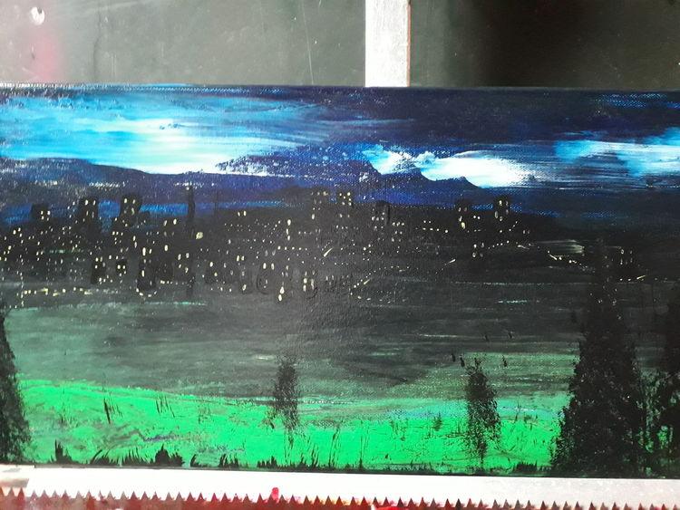 Landschaft, Modern art, Licht, Malerei, Nacht