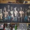 Menschen, Licht, Schwarz, Malerei